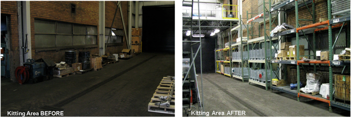 Kitting Area Before After