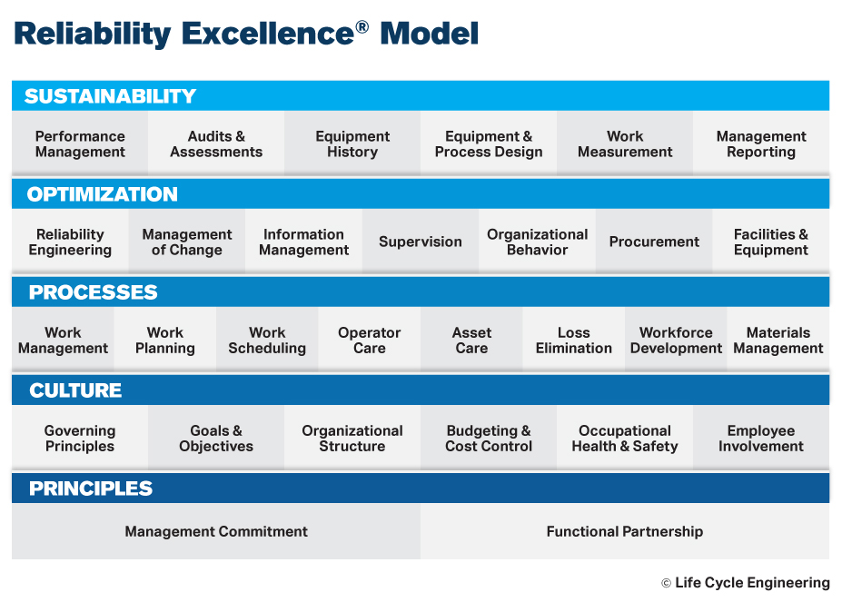 Life Cycle Engineering Reliability Excellence (Rx) 29 Element Model